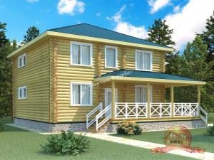 дом из оцилиндрованного бревна 12х12