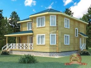 Проект большого деревянного дома из ОЦБ 12 на 12