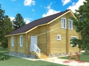 Дом из оцилиндрованного бревна 8х12