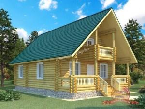 Дом из оцилиндрованного бревна 8х11