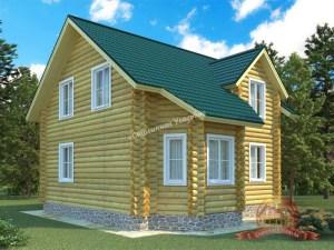 Проект деревянного дома из ОЦБ 8.7 на 7.5