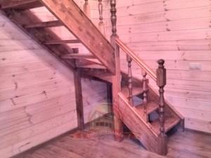 Произведен окрас лестницы при производстве