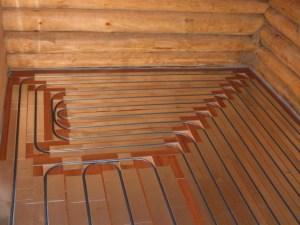 Устройство теплого пола в деревянном доме