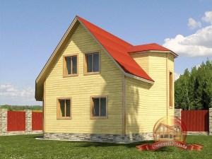 Деревянный дом из бруса 7 на 8