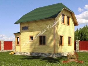 Брусовой дом 7х10 с верандой
