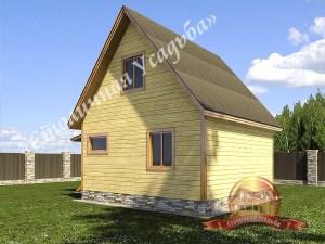 Двускатная крыша проекта брусового дома 6 на 6