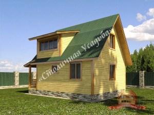 Летний дом из бруса 4х6 с террасой