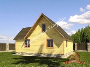Проект дома из проф.бруса 10 на 10