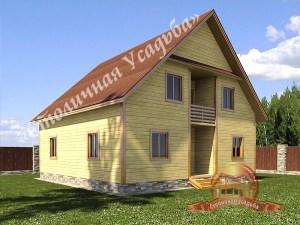 Дом из профилированного бруса со вторым светом 13х13, проект НБ-33
