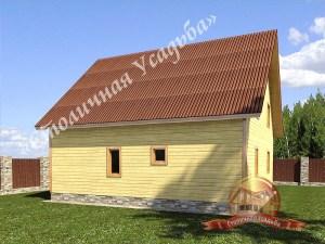 Планировка большого деревянного дома 13 на 13 включает в себя второй свет