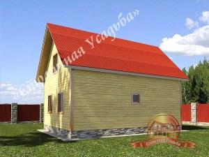 Дом из профилированного бруса 9х12 с верандой