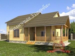 Проект деревянного дома из бруса 7х10, проект НБ-35