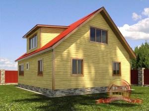 панорамные окна дома из бруса 10 на 8
