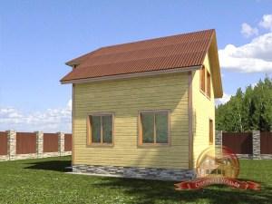 Проект брусового дома для постоянного проживания