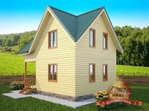 Проект деревянного дома 6х8