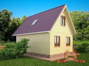 Деревянный дом 7х9 отличная планировка