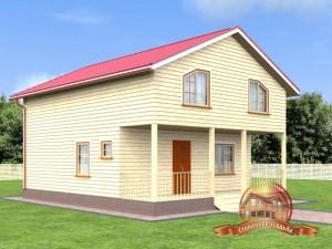 Дачный домик из бруса 8х10 в два этажа
