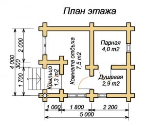 Планировка бани 4 х 5