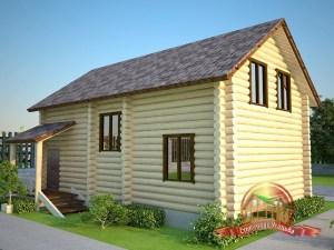 Отдельный навес над вторым крыльцом гостевого домика с баней и комнатами отдыха