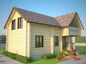 Проект гостевого дома-бани 6 х 10