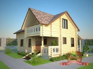 Проект гостевого дома-бани 5х9, внешний вид