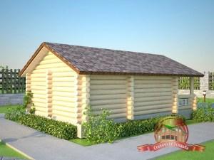 В данный проект бани 5 х 8 может быть добавлен 2 этаж с комнатой отдыха по желанию Заказчика