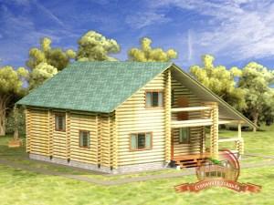 Дом из бревна 9х10