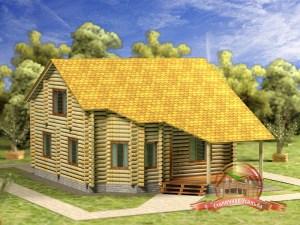 Дом из бревна 9х12
