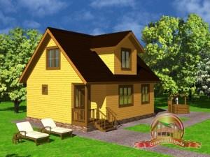 Дом из бруса 7х9 с 4 спальнями