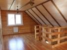 Пример отделки мансарды деревянного дома