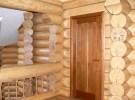 Монтаж дверей в бревенчатом доме