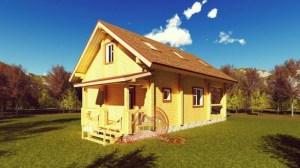 Эксклюзивный проект двухэтажного дома 7х11.5 с сауной