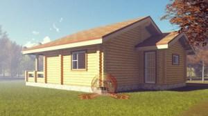 Проект большого дома 8 на 10 из ОЦБ