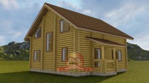 Двухэтажный просторный дом из бревна 9х10