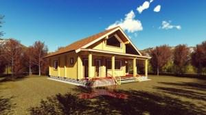 Стильный дом из профилированного бруса 10х11 с мансардой