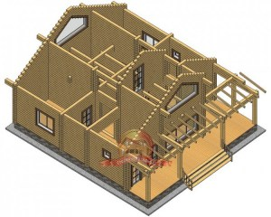 Первый этаж дома, здесь мы можем рассмотреть планировку 1 этажа