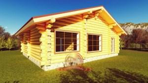 Пример отличной постройки из бревна, отличная планировка 11х12