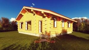 Проект бревенчатого дома из бревна 11х12
