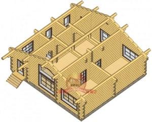 Пример 1 этажа бревенчатого дома