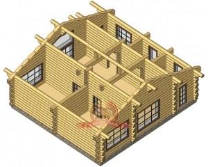 Устройство внутреннего пространства элитного дома 11х12