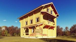 Вид на стильный, элитный дом из ОЦБ