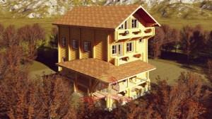 Общий вид уникального дома 12 на 15