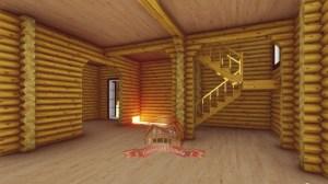Пример внутреннего пространства дома из ОЦБ 12х15