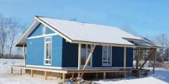 Прекрасный брусовой домик по индивидуальному проекту