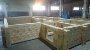 Строительство сруба из профилированного бруса под ключ на строительной базе