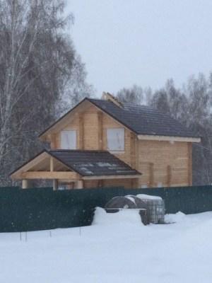 Большой загородный дом из профилированного бруса