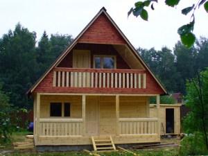 Бревенчатый дом на дачу