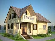 Проект гостевого дома-бани 7х10, СБ-9-2