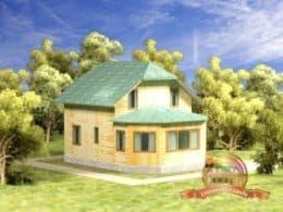 ДБР-4. Дом из бруса 7 на 9 (семь на девять метров)