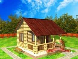 ДС-10. Проект дома из бревна 5 на 5 метров